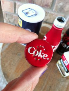 ANYONE Can make these!  Too Cute!!  Homemade Coca-Cola Salt n Pepper Shakers!