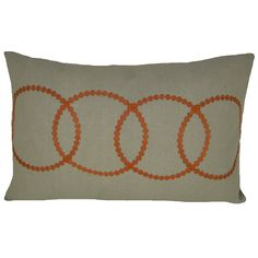 Bindi Orange Feather Filled Embroidered Circle 14x20 Decorative Pillow - Overstock™ Shopping - Great Deals on Throw Pillows