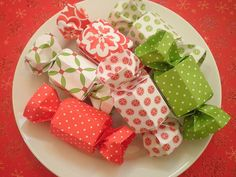 Holiday Candy Origami Box Set of Six by k13shima on Etsy, $6.95