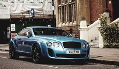 Black on Blue Bentley - Beastly beaut