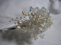 Bridal Hair Accessories Wedding Hair by LornaGreenTiaras on Etsy