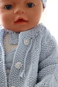 Strikkemønster Baby born - nydelig babysett til dukken