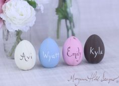 Hand painted Easter Eggs,  DIY Sprinkle Easter Eggs, Personalized Easter Crafts, Easter Table Setting #Easter #Day #egg #decor #craft #ideas www.loveitsomuch.com