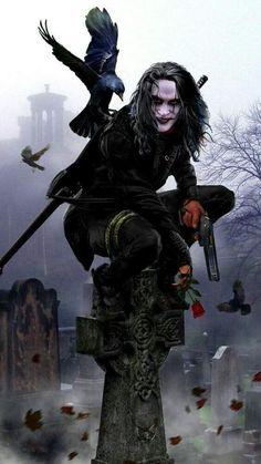 Dark Fantasy Art, Dark Art, Horror Art, Horror Movies, Crow Movie, Bd Art, Crow Art, Joker Wallpapers, Iphone Wallpapers