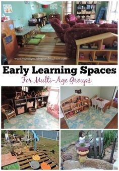 Use these simple strategies to design and create engaging early learning spaces in the home or childcare environment for mixed age groups!