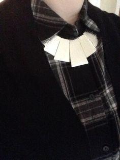 #plaid #silver #statementnecklace plaid silver statement necklace