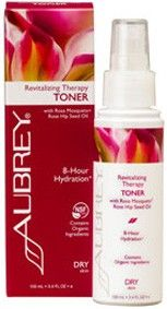 Aubrey Revitalising Therapy Toner with Rosa Mosqueta® Rose Hip Seed Oil [Certified to contain organic ingredients that meet NSF/ANSI organic standards]. To restore softness and elasticity. Organic Rosa Mosqueta Oil and proven anti-ageing ingredients come together in this rich, hydrating line. Vegan. http://www.theremustbeabetterway.co.uk/aubrey-revitalising-therapy-toner.html