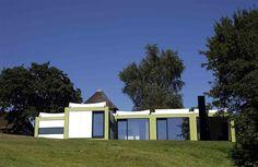 """""""Kubeflex"""" summer house, designed by Arne Jacobsen (1970). Trapholt Museum, Kolding, Denmark."""