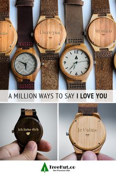 Tree Hut watches are the perfect gift for celebrations of all kind. Commemorate an anniversary, retirement, graduation, or birthday with a custom, engraved message on a handmade, wooden watch.