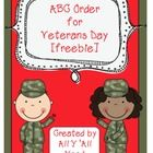 A fun way to discuss Veterans Day vocabulary words.Students are then asked to put them in order.Words are:  protect, Coast Guard, Navy, Army, Air...