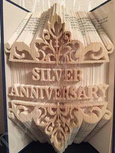 Silver Anniversary Combi Cut and Fold Book Folding Pattern