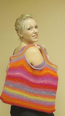 Free knitting pattern Felted bag in Kureyon. Kureyon felted bag free pattern  You knit, I'll felt :)