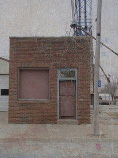 Tiny abandoned building in Axtell, Kansas