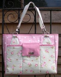 The Stow-It-All Bag Sewing Pattern from Chris W Designs - My New Tote! - sew-whats-new.com