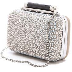 Diane von Furstenberg Tonda Small Crystal Clutch ($395) ❤ liked on Polyvore