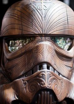 Star Wars | Wood Carved Stormtrooper Helmet - Google Search