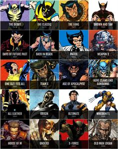 Wolverine through the years