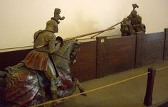 Jousting display at the Museo Stibbert (Stibbert Museum), Florence, Italy.