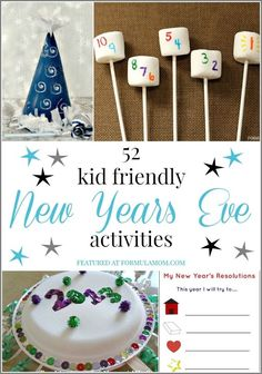 52 New Years Eve Kid Friendly Activities Source by stuffnjunkbyhiD Related posts: Winter Activities – No Prep Winter Worksheets, New Years Activities New Years Activities [. New Years With Kids, Family New Years Eve, New Years Eve Games, New Years Eve Day, All Family, New Years Party, New Years Eve Toddler, New Year's Eve Celebrations, New Year Celebration
