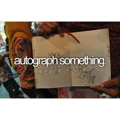 Did this once with my nieces after having a scrapbook layout of them published a) in a well known magazine and b) on the cover of a book.  I was so amazed when the owner of the store asked me if I would spend a few hours signing autographs...it was so cool for my nieces too.