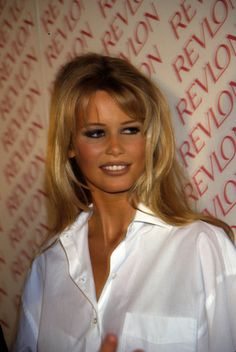 Claudia Schiffer Revlon event, can find Claudia schiffer and more on our website. Christy Turlington, Donatella Versace, Linda Evangelista, 1990 Style, 1990s Supermodels, Look Dark, Stephanie Seymour, Outfit Trends, Karen
