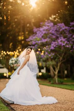 This bride's special day was truly a fairy- tale! Her gorgeous princess dress looks so stunning against the purple foliage at golden hour at Gabbinbar Homestead. Classic Wedding Gowns, Wedding Dresses, Tulle Wedding, Garden Wedding, Princess Style, Princess Wedding, Wedding Catering, Wedding Venues, Beautiful Bride