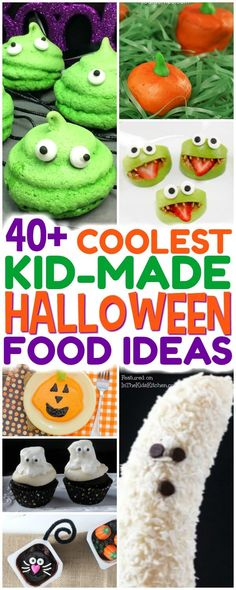 An AWESOME collection of over 40 of our favorite Halloween snacks that are not only kid-approved, but kid-made too! Healthy snacks, party treats, & more!