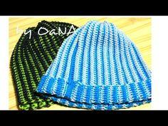 tecnica tunisina cappello a coste - YouTube