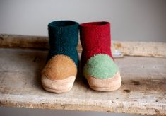 Wool Baby Shoes Toddler Slippers size 012 months Fall by WoolyBaby, $38.00