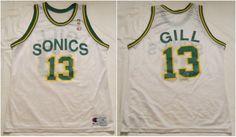 c6decfdf6cb Vintage 1994 Seattle Supersonics Kendall Gill Jersey by Champion. Men's  XL/48