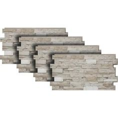 Urestone 24 in. x 48 in. Stacked Stone Almond Taupe Stone Veneer - The Home Depot Stone Siding Panels, Faux Stone Siding, Stone Veneer Siding, Stone Veneer Panels, Stacked Stone Panels, Faux Stone Panels, Faux Panels, Faux Stone Veneer, Dry Stack Stone