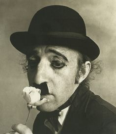 Woody Allen as Charlie Chaplin (by Irving Penn, 1972)