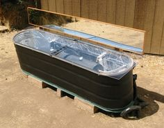 Solar Water Heater from Stock Tank Project – Off The Grid » The Homestead Survival
