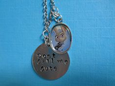 Zootopia Judy inspired necklace by TinkerGirlBoutique on Etsy