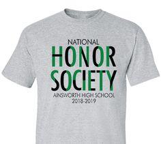 21 Best Honor Society T Shirt Designs Images In 2019 Custom Design