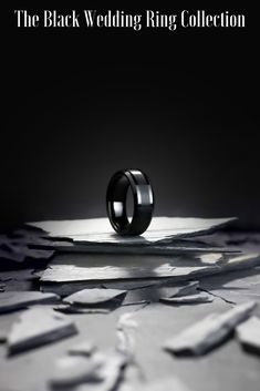 Wedding Rings: Choosing the Perfect Wedding Ring - Put the Ring on It Black Wedding Rings, Wedding Rings Simple, Unique Wedding Bands, Black Rings, Tungsten Wedding Rings, Dream Wedding, Wedding Decorations, Popular, Collection