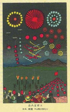 llustrations from Alan Brock's Pyrotechnics: The History and Art of Firework Making (1922) -via Paraphilia magazine