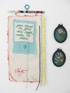 a wall patch of positivity... you stand in your own light, make it shine by dottie angel