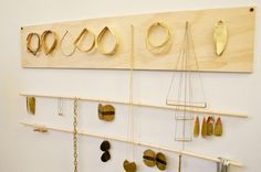 love this jewelry hanger solution by fay andrada