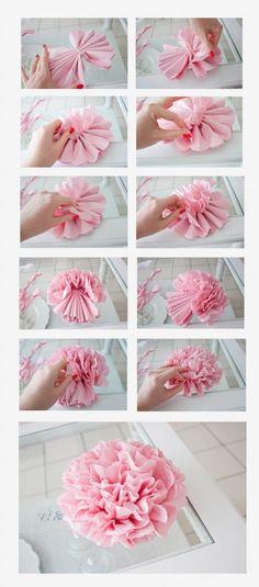 Tissue Pom Poms:
