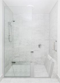 A luxurious shower experience with no bath interfering
