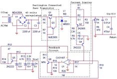 This is the circuit diagram of 12V / 10A switching power supply. The circuit, shown in the schematic, provides 12 volts,