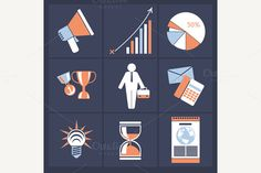Set of Business Icons by robuart on Creative Market