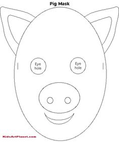 Free printable wolf masks stencil twilight family how for Template for pig ears