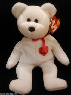 801b9e2e503 Ty 1993 Valentino Beanie Baby 1st Edition Misspelled Tag PE Pellets Soft  Toy