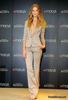 RHW wearing a Chic Pant Suit