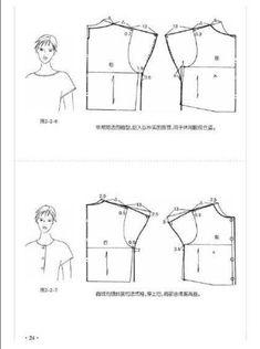 tipo de manga - Favland.org Sewing Paterns, Dress Sewing Patterns, Blouse Patterns, Clothing Patterns, Sewing Sleeves, Sewing Blouses, Modelista, Pattern Cutting, Pattern Drafting