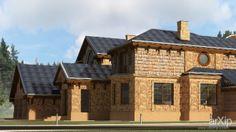 Реконструкция загородного дома: архитектура, жилье, 3 эт   9м, модернизм, 1000 - 3000 м2, фасад - дерево, коттедж, особняк #architecture #housing #3floors_9m #modernism #1000_3000m2 #facade_wood #cottage #mansion arXip.com