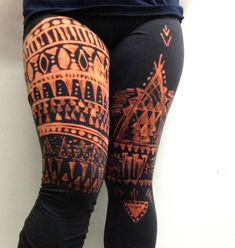 """ DIY Tribal-Print Leggings """