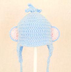Boots Hat from Dora the Explorer Blue Monkey Ears by GeekinOut, $25.00